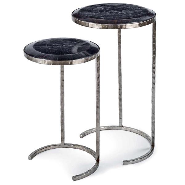 Picture of HORN VENEER NESTING TABLES BLK