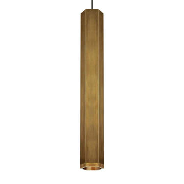Picture of BLOK PENDANT - AGED BRASS