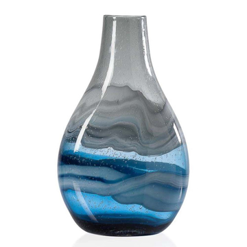 Picture of ANDREA SWIRL GLASS VASE, TALL