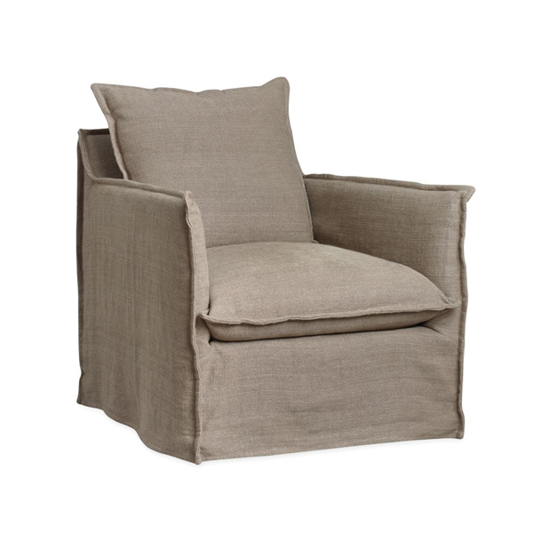 Picture of HOLMES SLIPCOVERD SWIVEL CHAIR