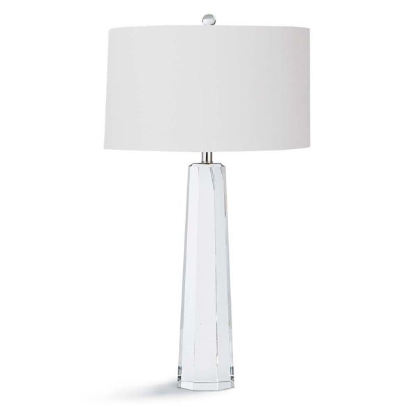 Picture of TAPERED HEX CRYSTAL TABLE LAMP