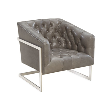 Picture of MANN TUFTED LEATHER CHAIR