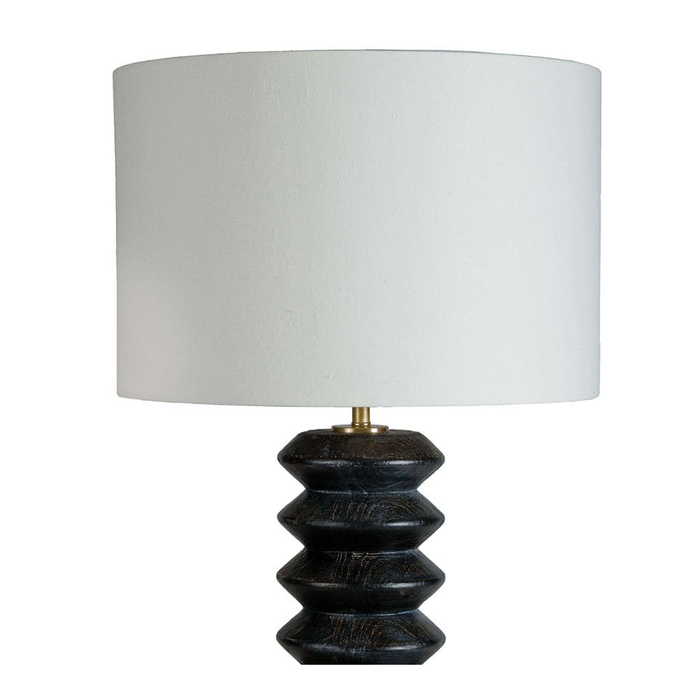 Picture of ACCORDION TABLE LAMP, EBONY