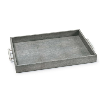 Picture of SHAGREEN RECTANGLE TRAY, CHAR