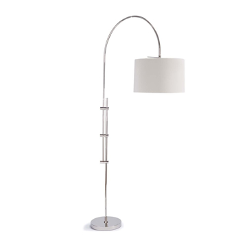 Picture of ARC FLOOR LAMP, POL NICKEL