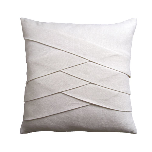 Picture of SLUBBY LINEN PILLOW, HERRINGBN