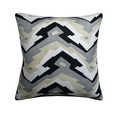 Picture of DECO MOUNTAIN PILLOW, BLK/GRY