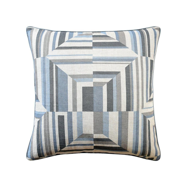 Picture of CUBISM PILLOW, 20X20, SPA BLUE