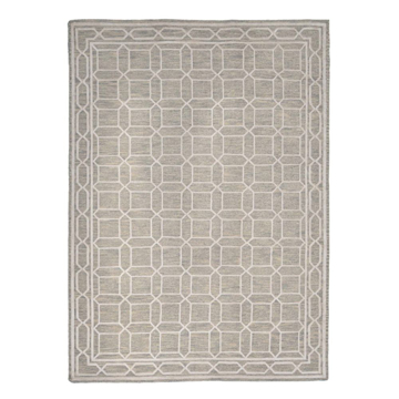 Picture of LINENWEAVE II RUG, GREY/WHITE