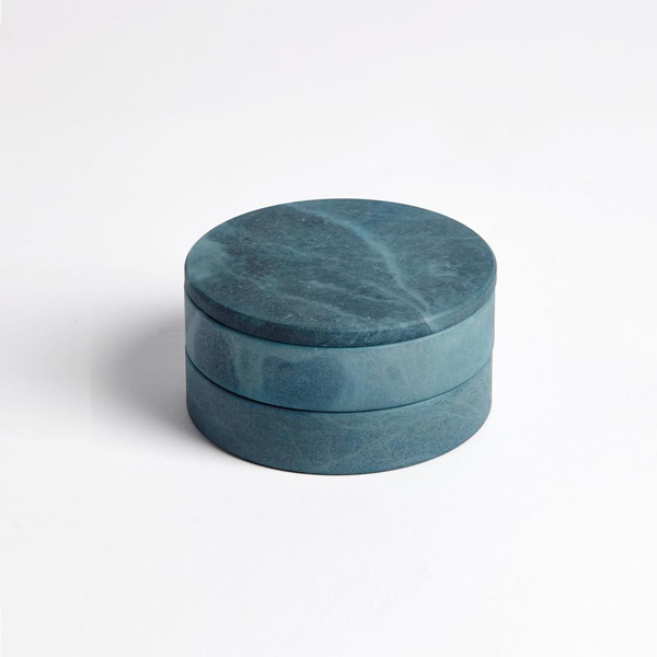 Picture of ALABASTER SWIVEL BOX, BLUE