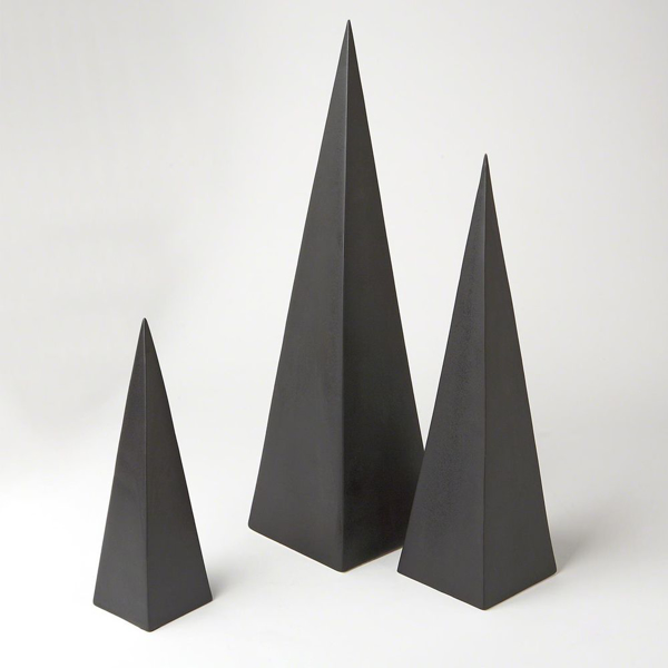 Picture of S/3 PYRAMID OBJET, BLACK