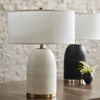Picture of RIVOLI LEATHER TABLE LAMP, BLK