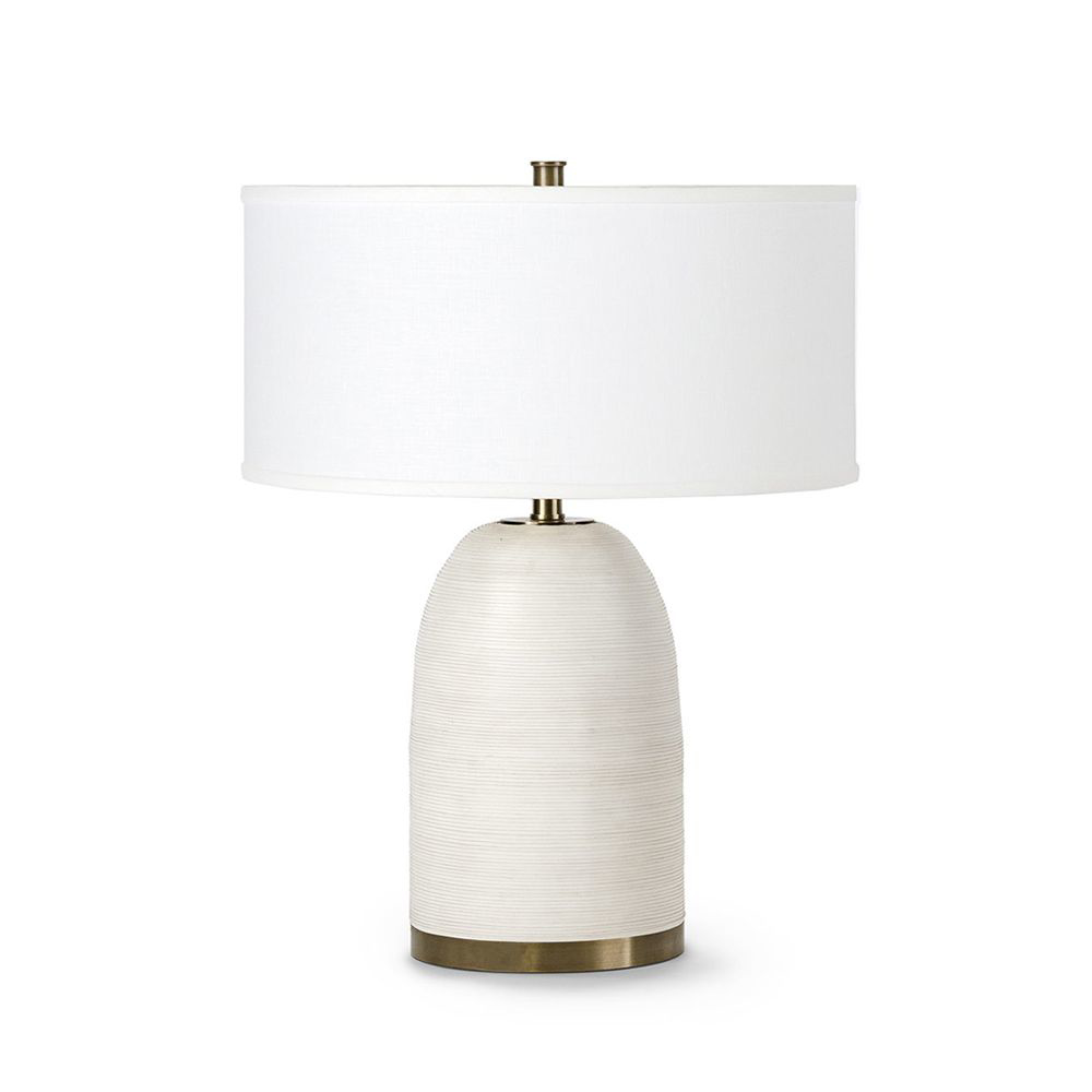 Picture of RIVOLI LEATHER TABLE LAMP, WHT