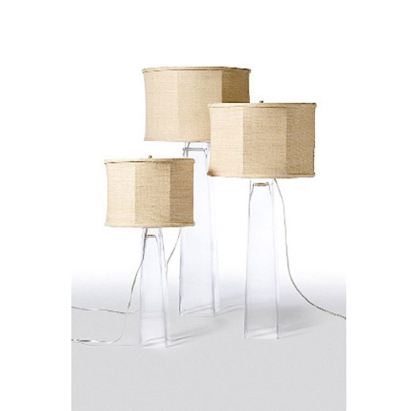 Picture of SQUARE GLASS TABLE LAMP, MED