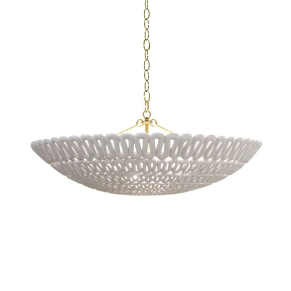 Picture of PIPA BOWL CHANDELIER, SILVER