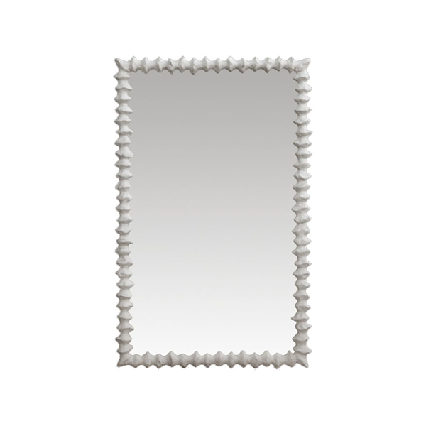 Picture of CLYDE MIRROR, SMALL WHITE