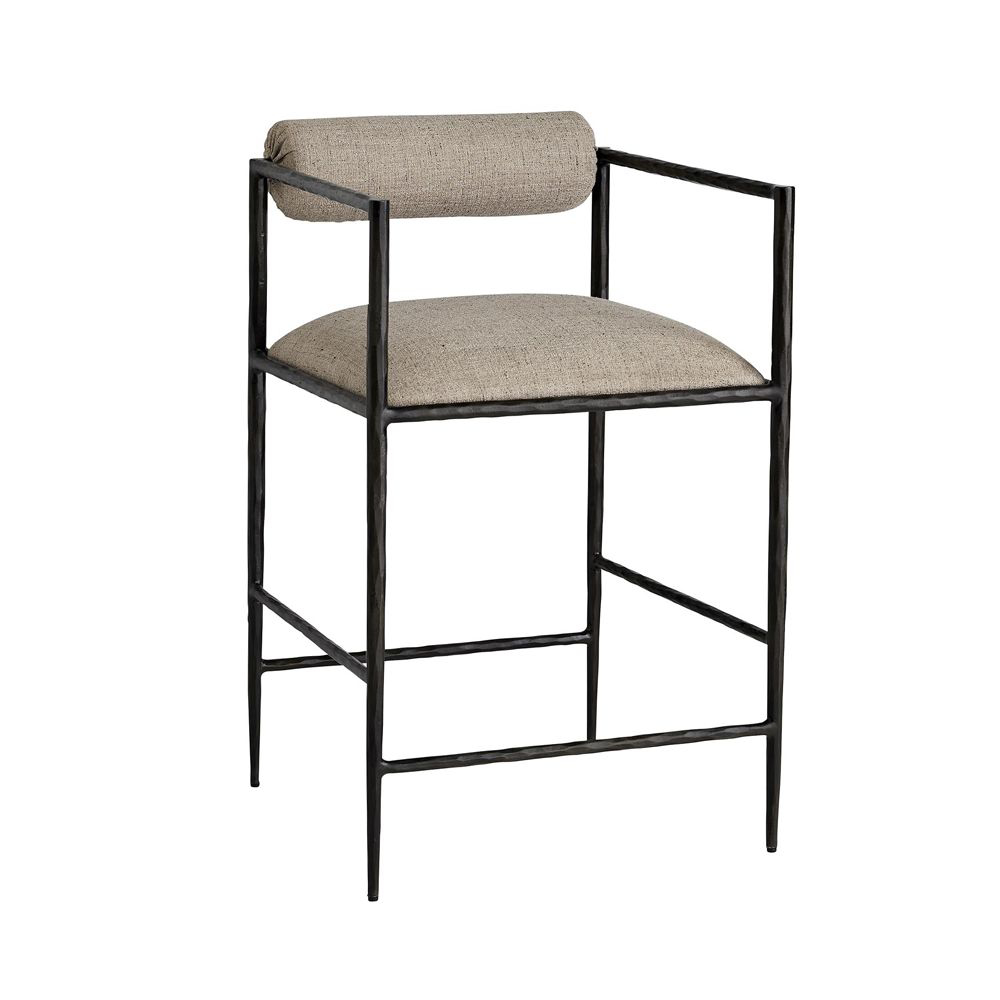 Picture of BARBANA COUNTER STOOL, PEWTER