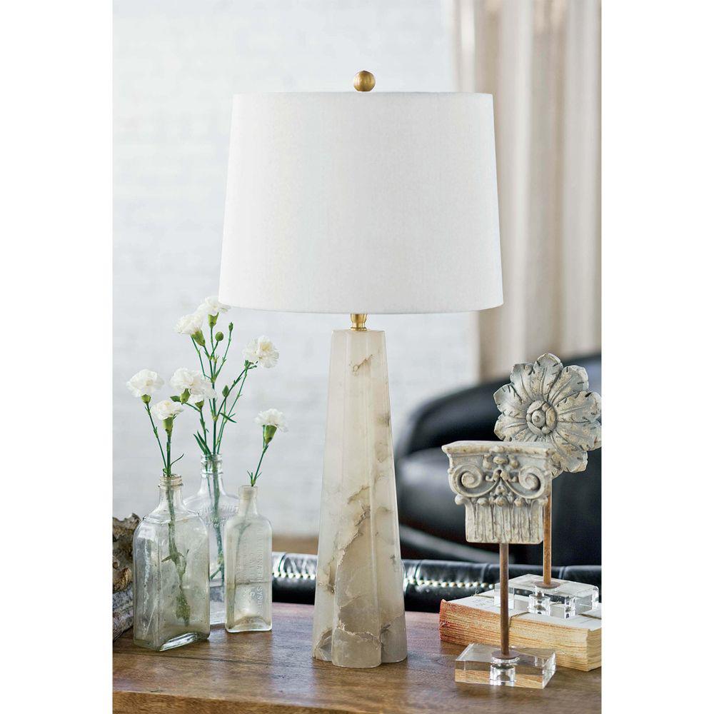 Picture of QUATREFOIL ALB. TABLE LAMP, SM