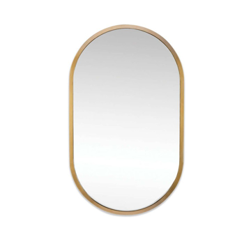 Picture of CANAL MIRROR, NAT. BRASS