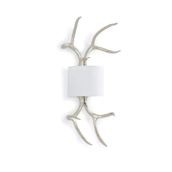 Picture of ANTLER SCONCE, SILVER LEAF