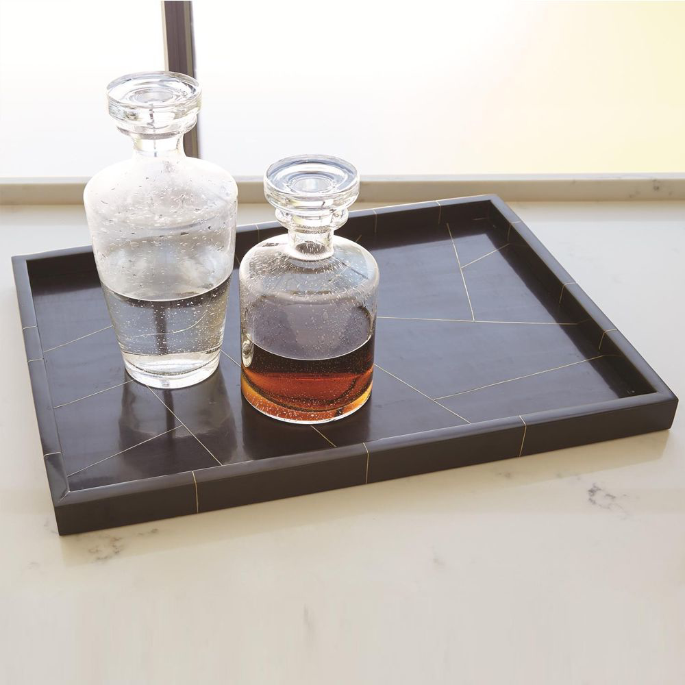 Picture of HEPBURN TRAY-BLK/BRS FILET