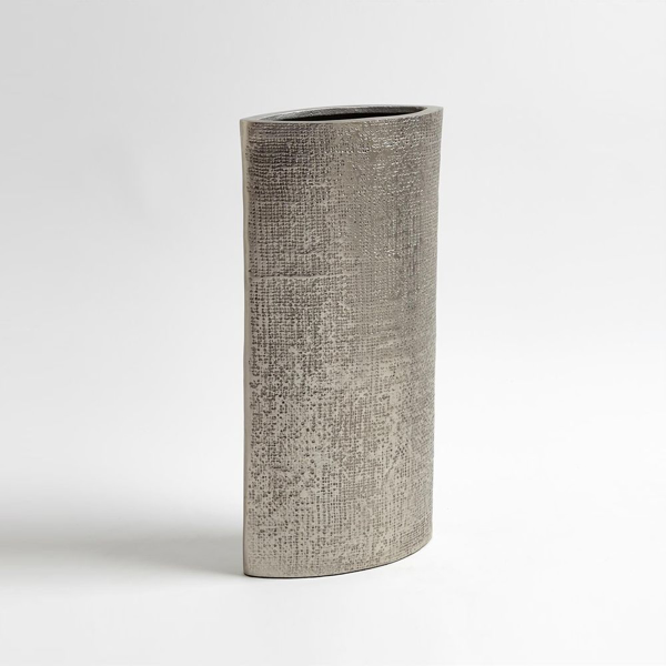 Picture of HEMP ETCHED VASE-NICKEL-LG