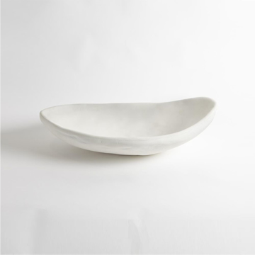 Picture of MODERNIST LOW BOWL, WH PLASTER