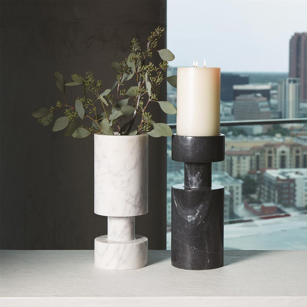 Picture of LUC VASE, BLACK MARBLE