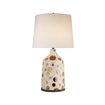Picture of BIJOU TABLE LAMP, IVORY/GOLD