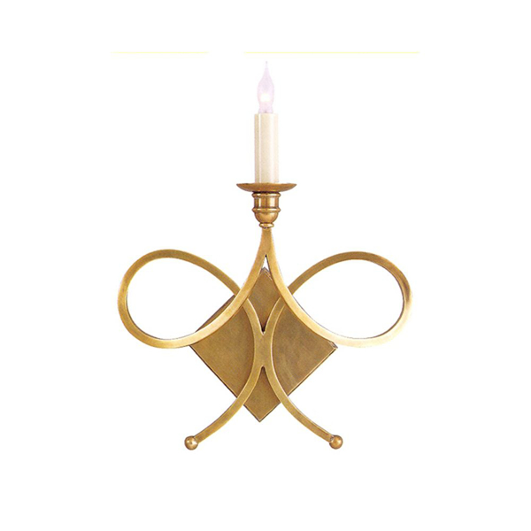 Picture of ONE LIGHT DBL TWIST SCONCE,HAB