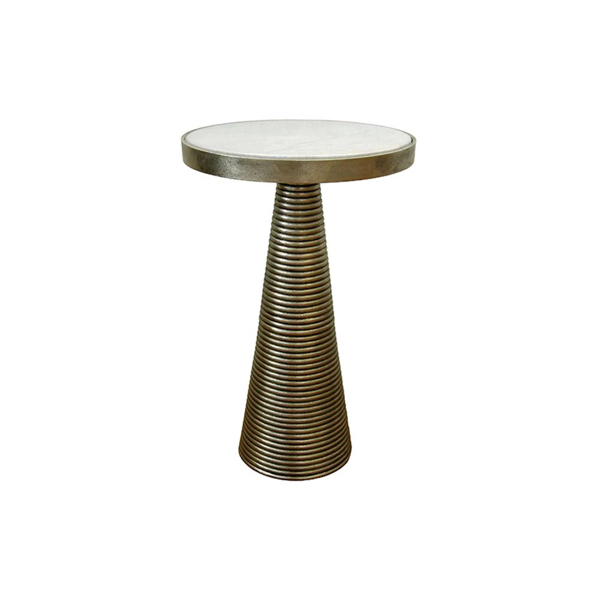 Picture of TARA SIDE TABLE, ANT. BRASS