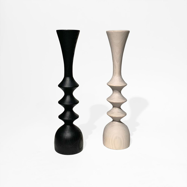 Picture of SPOOL BLACK CANDLEHOLDER, SM