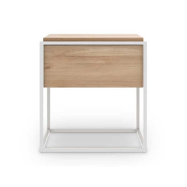 Picture of MONOLIT BEDSIDE TABLE, NAT-WHT