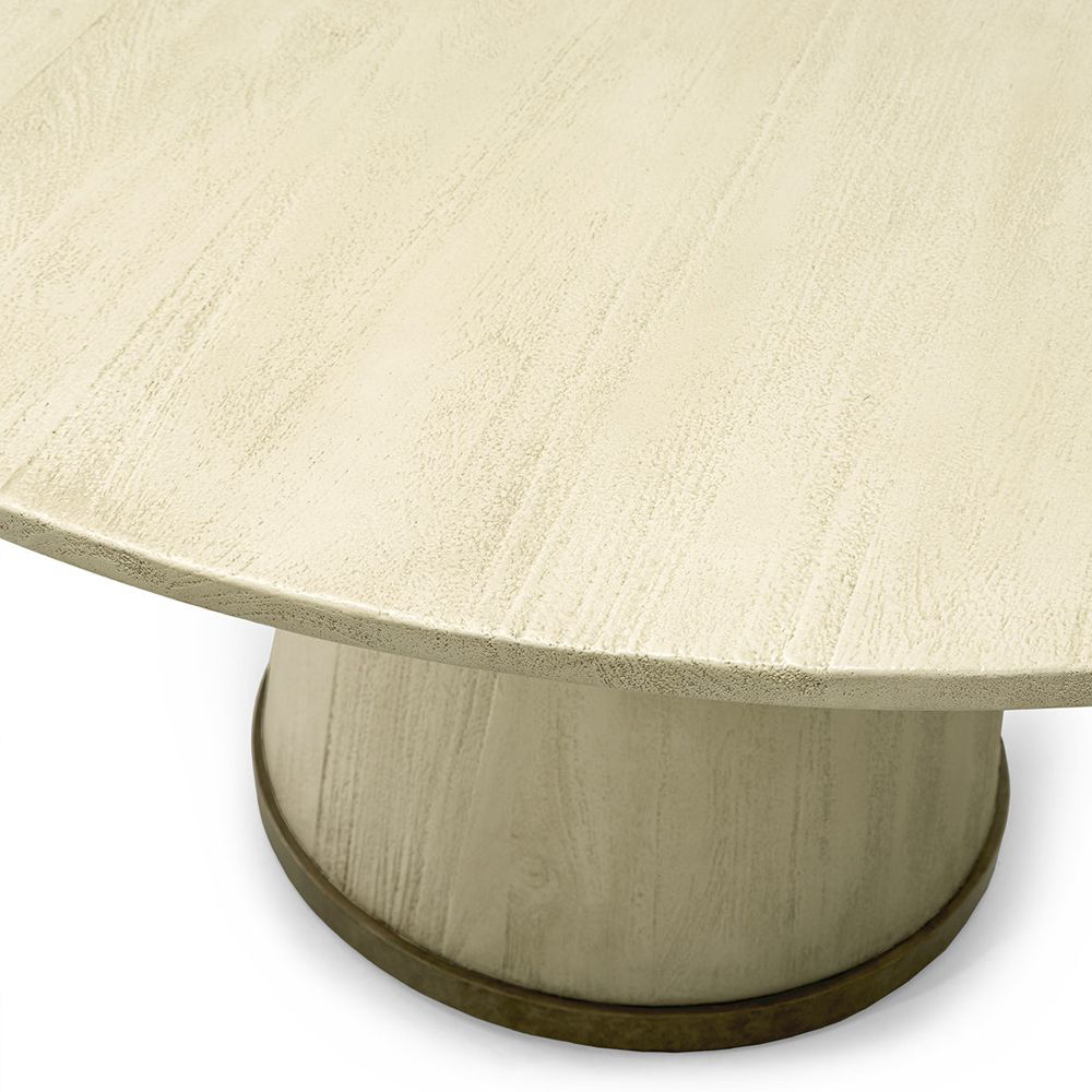 "Picture of CONRAD DINING TABLE 60"" GOLD"
