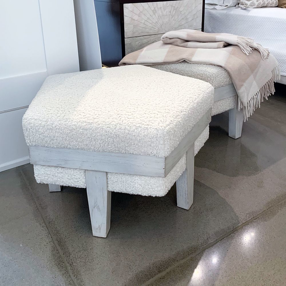 Picture of ROSE CHAMFERED OTTOMAN