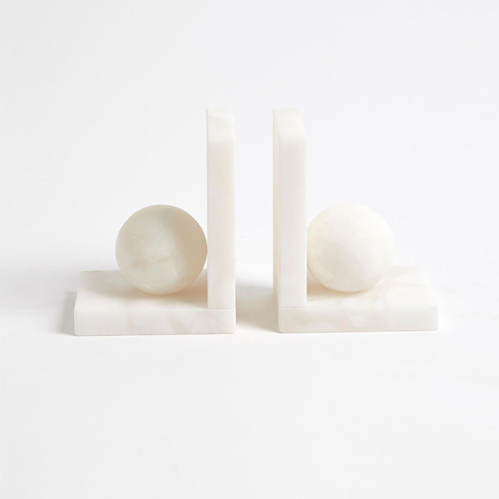 Picture of ALABASTER BALL BOOKENDS, PAIR