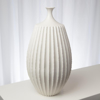 Picture of SAWTOOTH VASE RUSTIC WHITE, MD