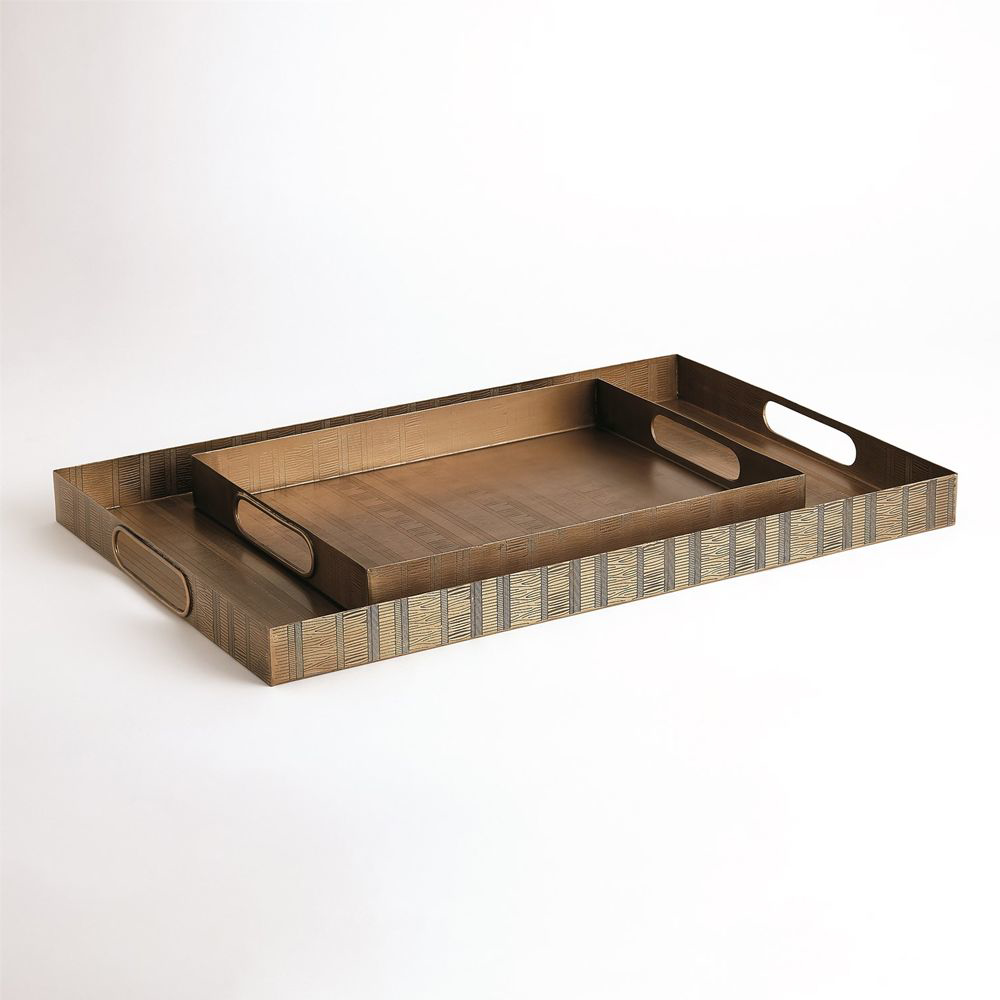 Picture of KOKORO ETCHED RECT TRAY, BR LG