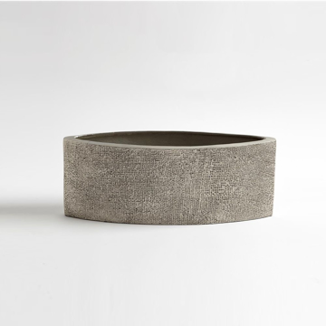 Picture of HEMP ETCHED PLANTER, NICKEL