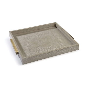 Picture of SQUARE SHAGREEN BOUTQ TRAY, IV