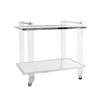 Picture of PIERCE BAR CART, ACRY/NICKEL